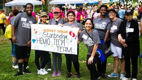 Hemodialysis Technician students rallied together to fundraise for kidney health and renal disease research and prevention at the National Kidney Foundation's OC Kidney Walk.