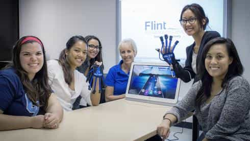 Hands-on demonstrations of emerging rehabilitation technology like Flint Rehabilitations MusicGlove™ lets occupational therapy students learn new and creative ways to treat clients.